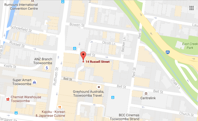 Douglas & Flynn| Toowoomba Accountants| Map